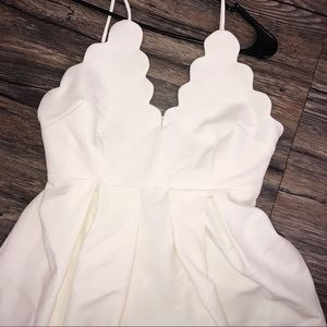 White Scallop fit and flare dress boutique